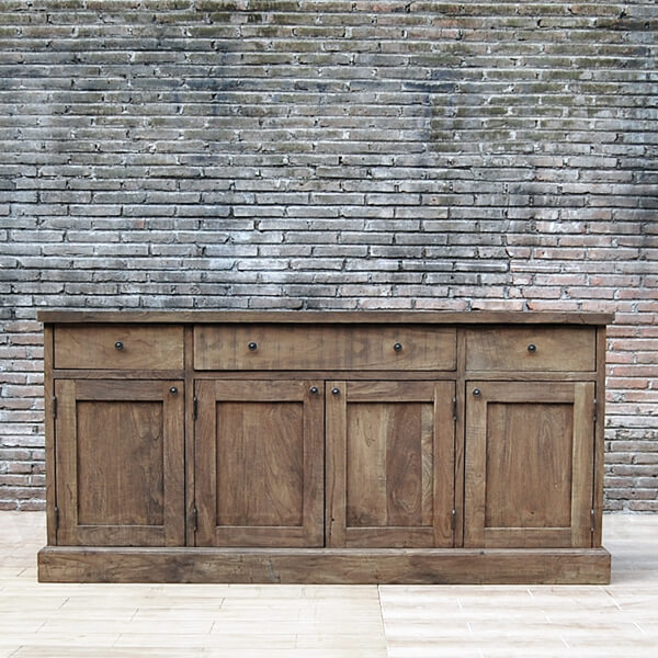 Antique Distressed Teak Wood Sideboard server