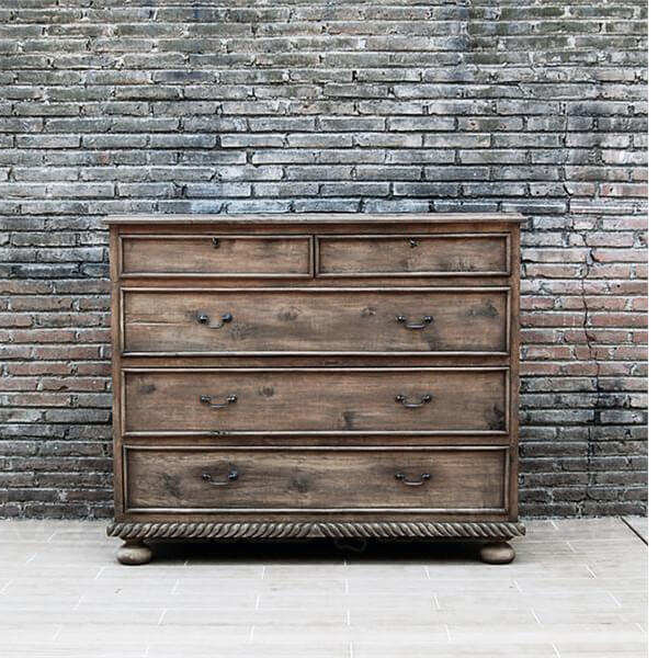 Antique French Country Distress Chest Of Drawers