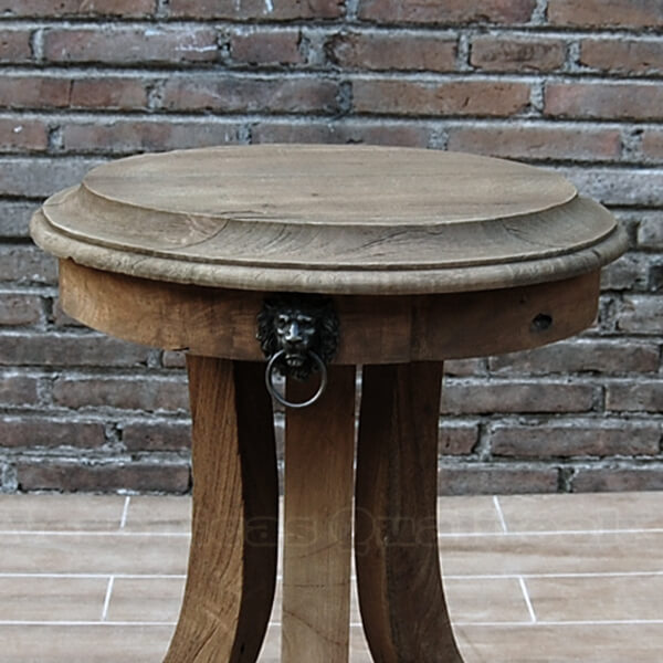 Antique French Country Distress Side Table Detail