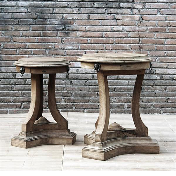 Antique French Country Distress Side Tables