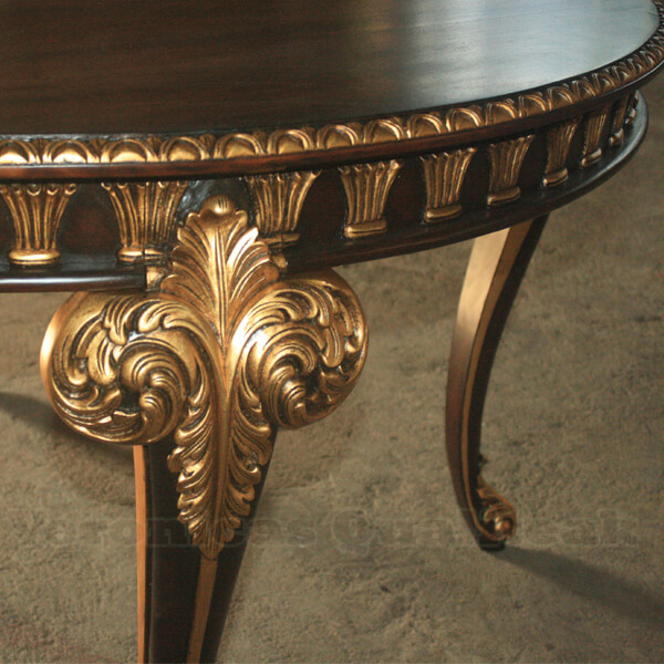 Antique Luxury Victorian Round Dining Table detail
