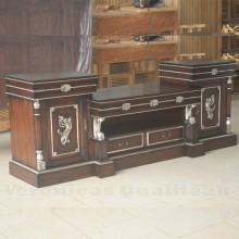 Antique Victorian Natural Finish Mahogany TV Cabinets