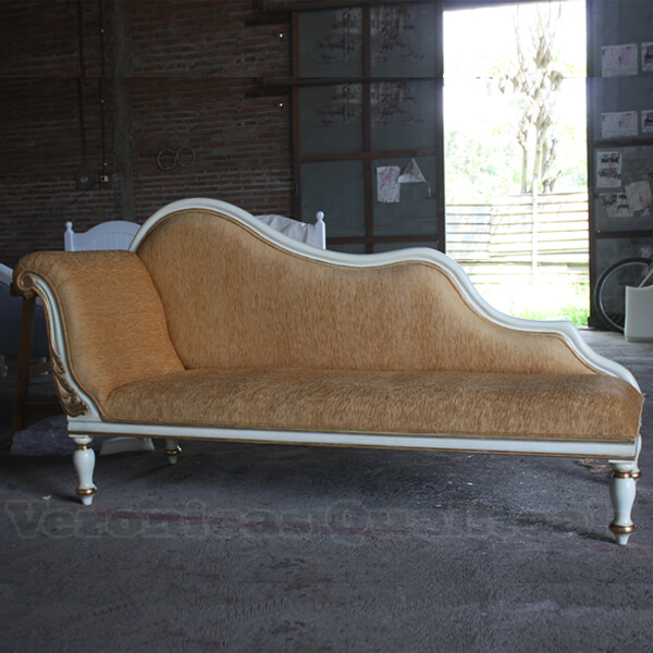 Antique White Painted Luxury Livingroom Sofa