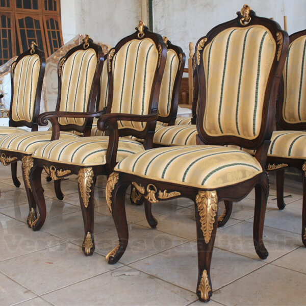 Antique Victorian Gilded Dining Armchairs