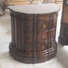 Antique Victorian Half Round Bedside Tables