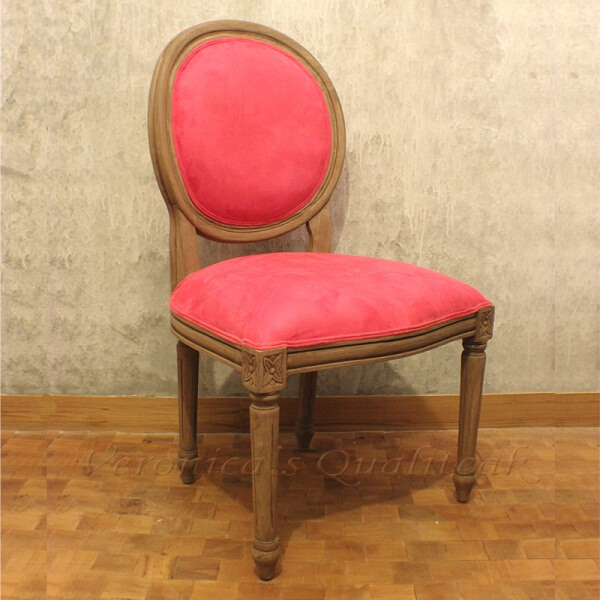 Antique French Oval Dining Chairs, Malouda Series