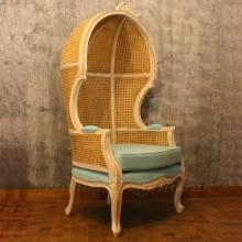 Antique Mahogany Canopy Chair