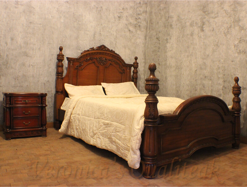 Antique Mahogany Bedroom Sets With Carving By Veronicas Qualiteak