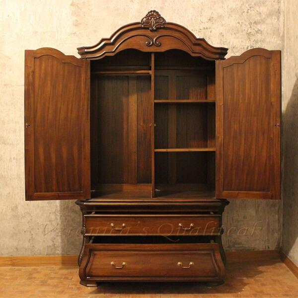 Mary Anne Antique Wardrobe Open Door