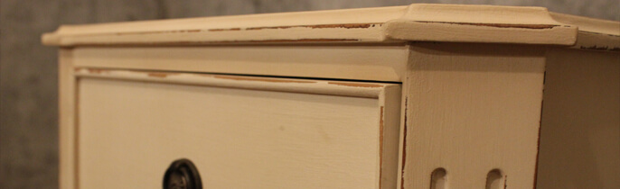 Distressing Painted Furniture With Sandpaper