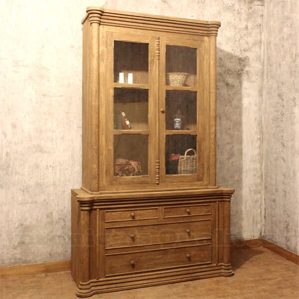 Antique Distressed Display Cabinets Ludvig Series