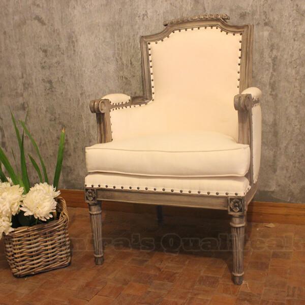 Antique Distressed Mahogany Sofa, Millton Series