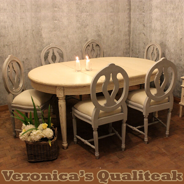 Antique Gustavian Dining Table Sets, Tando Series