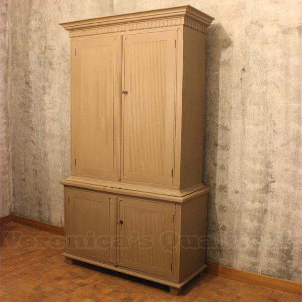 Antique Gustavian Mahogany Wardrobe, Wolter