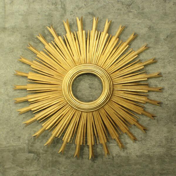 Antique Mahogany Wall Mirror, Helios Series
