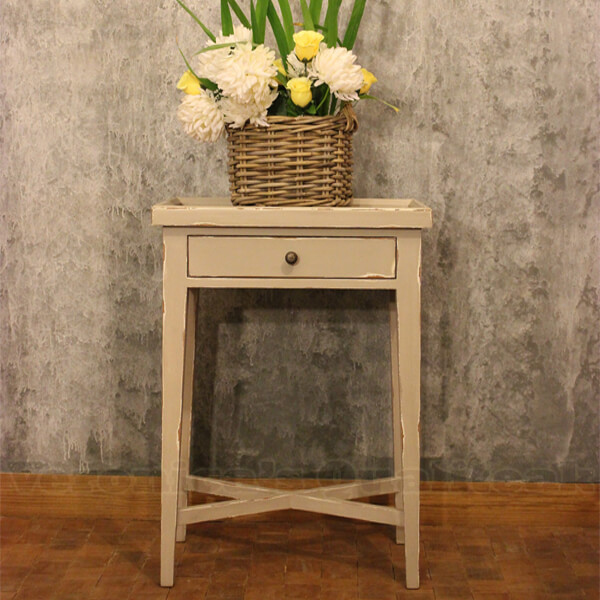 Antique Swedish Bedside Table, Greta Series