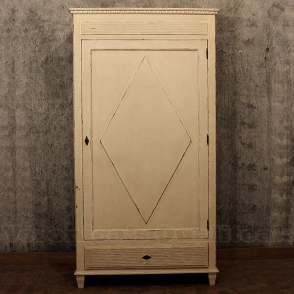 Antique White Paint Wardrobe, Evalina Series
