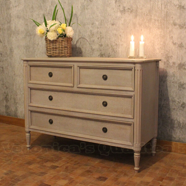 Classic Gustavian Style Chest Of Drawers Andy Series