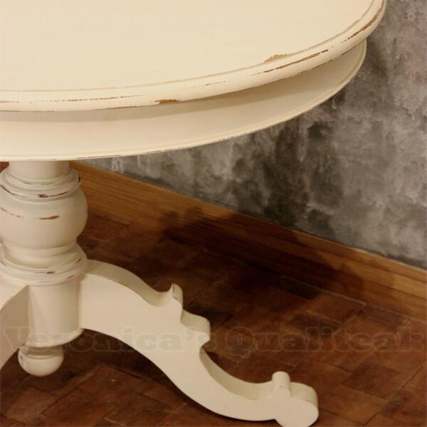 Ingrid Antique White Paint table detail