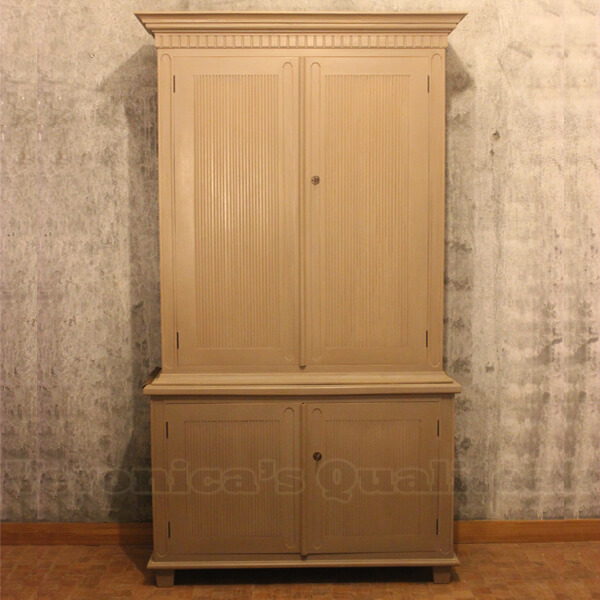 Wolter Antique Gustavian Mahogany Wardrobe Front View