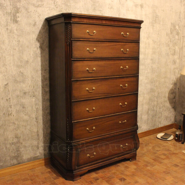 antique chest of drawers with mahogany wood