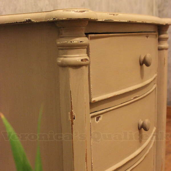 distressed painted furniture adriana bedside details