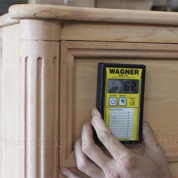 mahogany chest of drawers moisture level