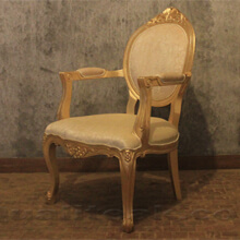 Antique Gold Leaf Finish Versailles Dining Chair