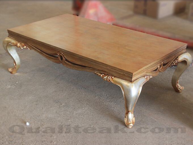 Antique Coffee Table Gilded Finish