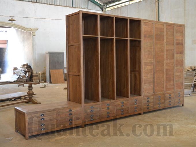 Reclaimed Teak Wood Large Wardrobe