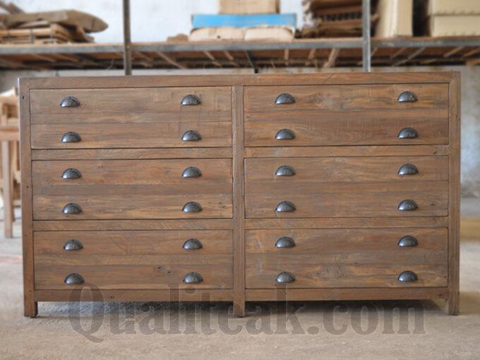 Teak Reclaimed Wood Chest Of Drawers - Reclaimed Wood Chest Of Drawers