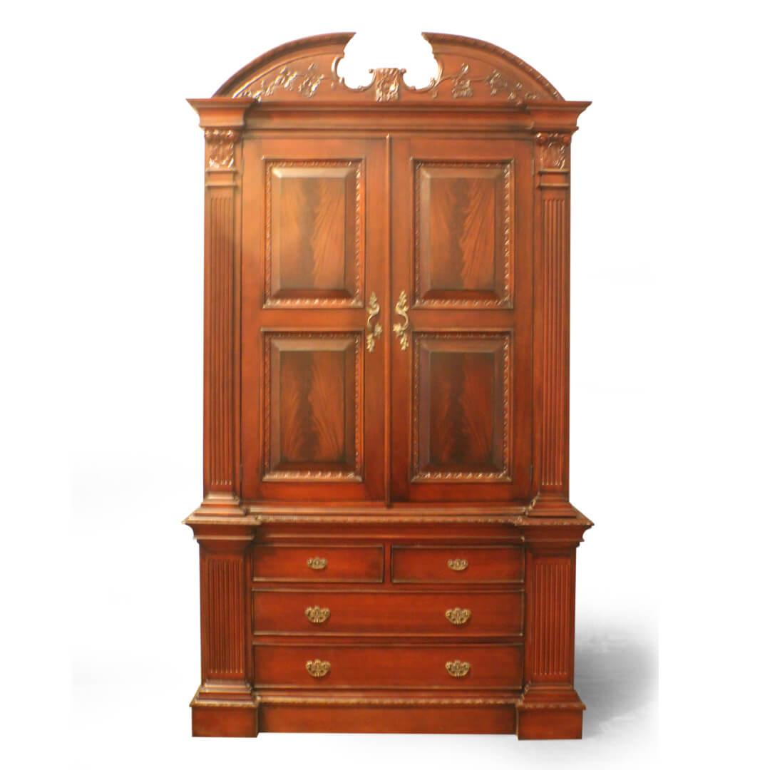 antique victorian wardrobe front view