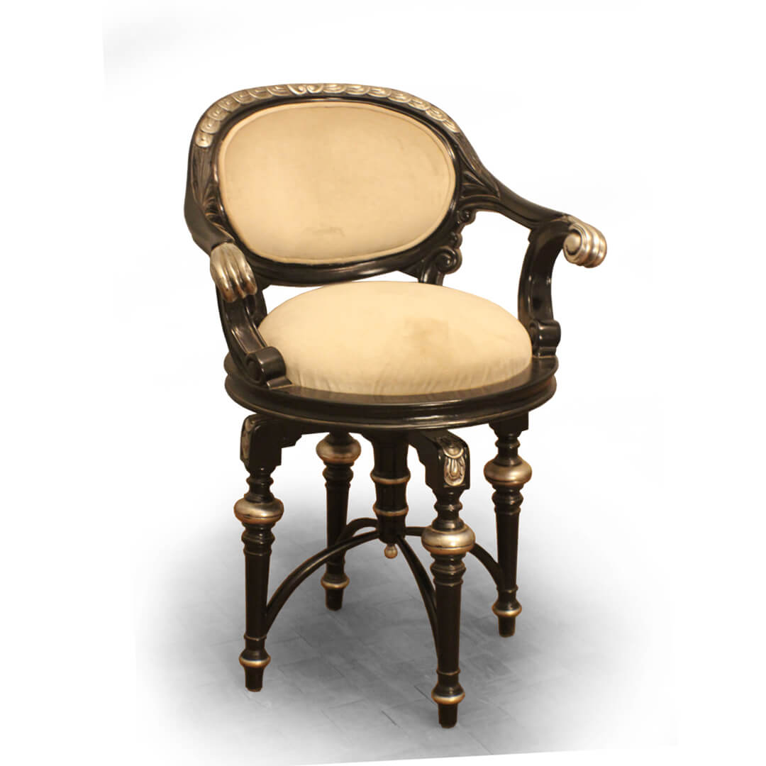 carved swivel bar stool