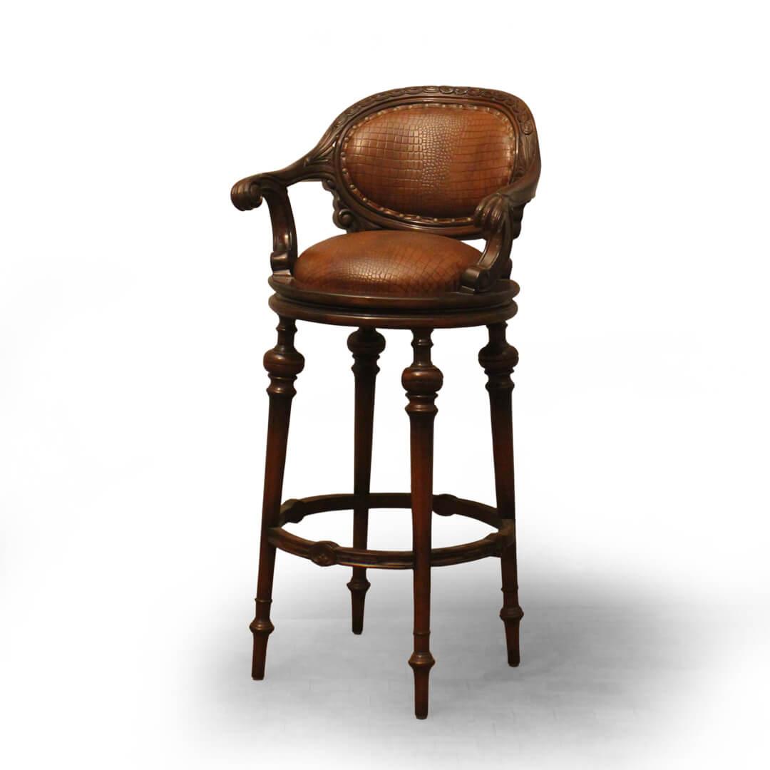 carving furniture bar stool