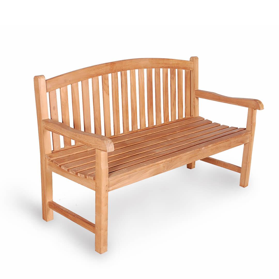 classic teak outdoor bench