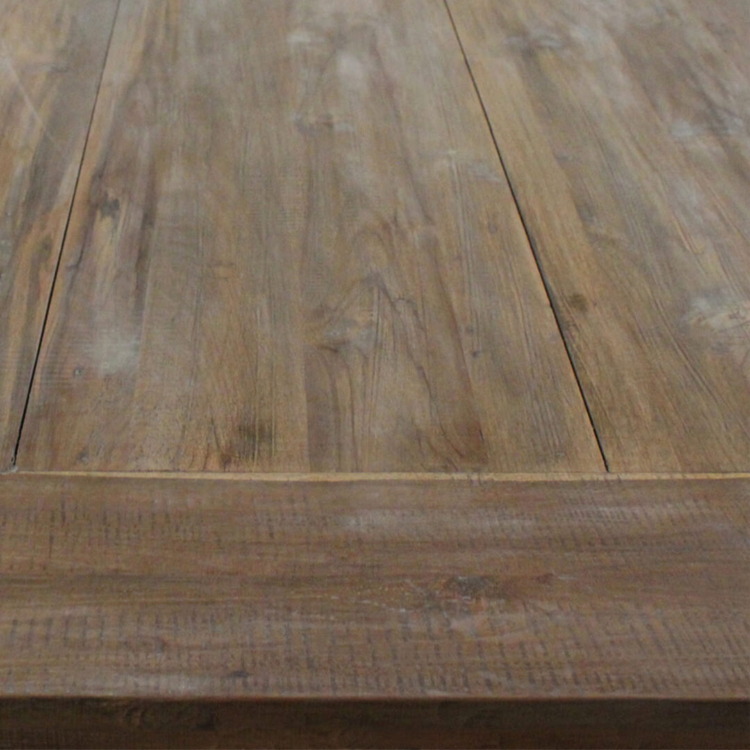 dining table rectangular reclaimed teak wood top