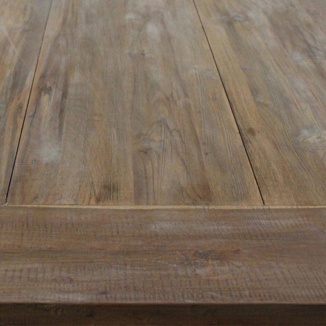 dining table rectangular reclaimed teak wood top