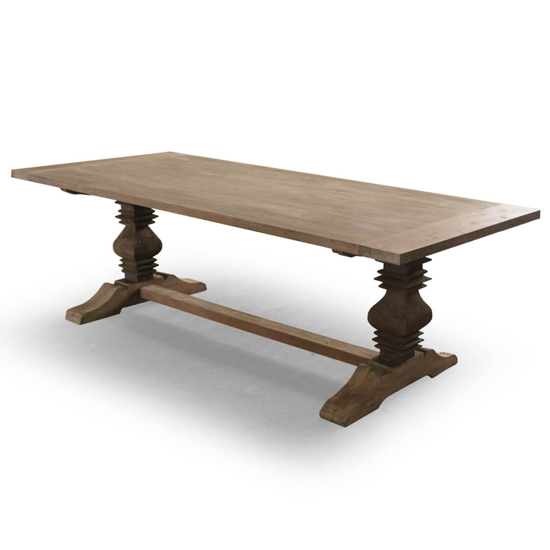 Buy Country Distressed Teak Recycle Dining Table Form Indonesia - Indonesian teak dining table