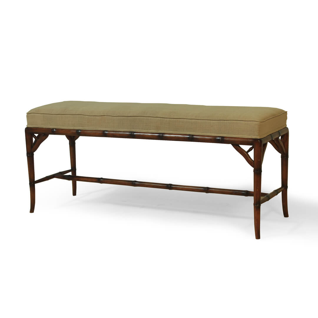 gustavian furniture bamboo style bench