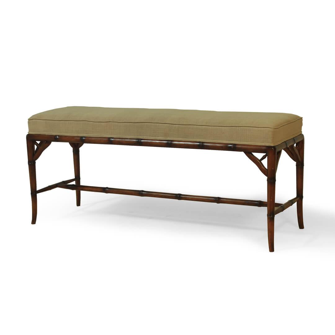 gustavian furniture bamboo style bench