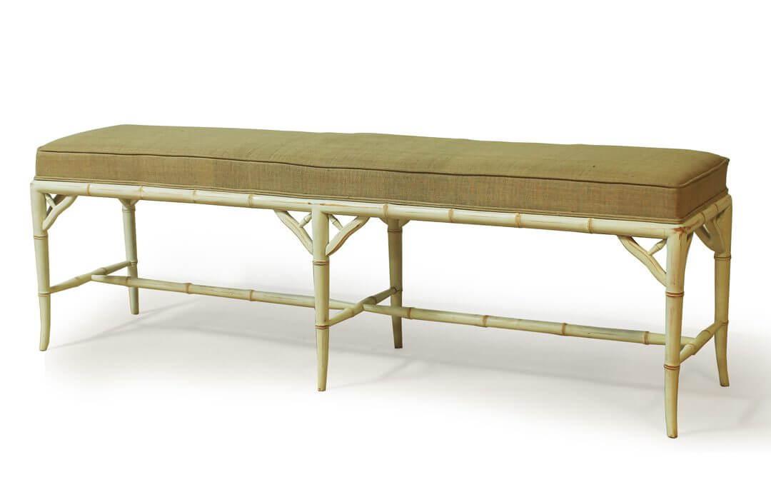 Bamboo Style Gustavian End Bench