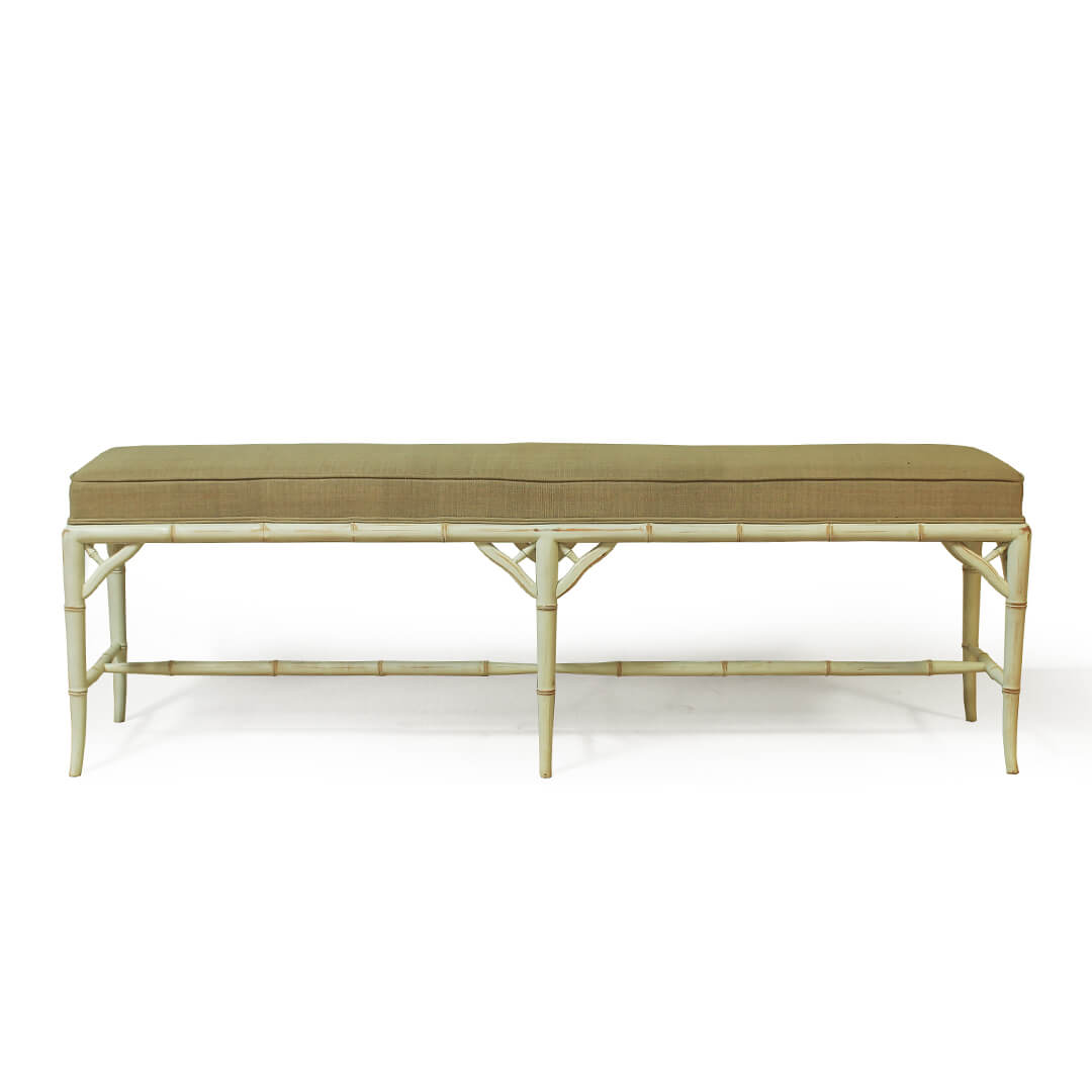 gustavian furniture bench front view