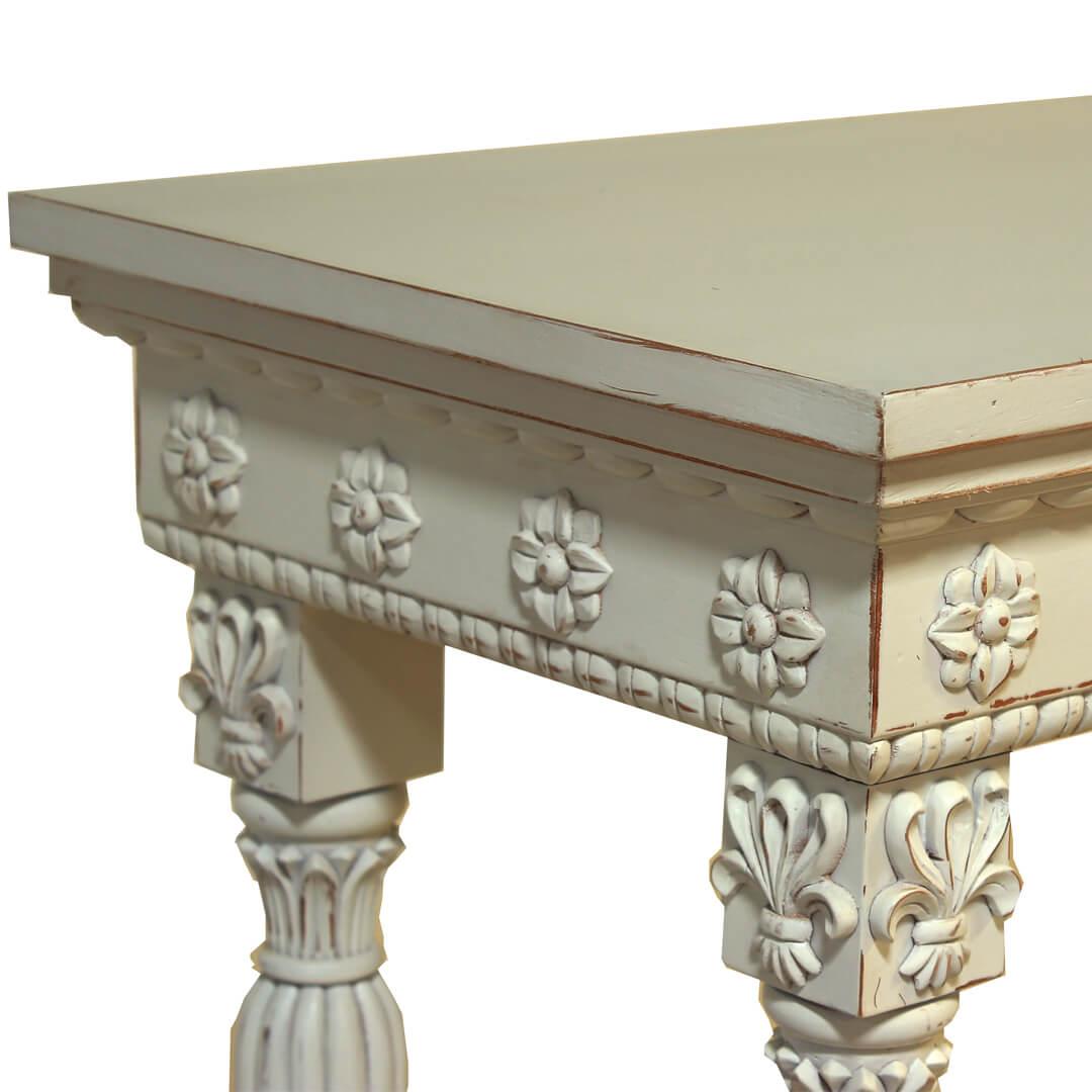 gustavian furniture carved bedside
