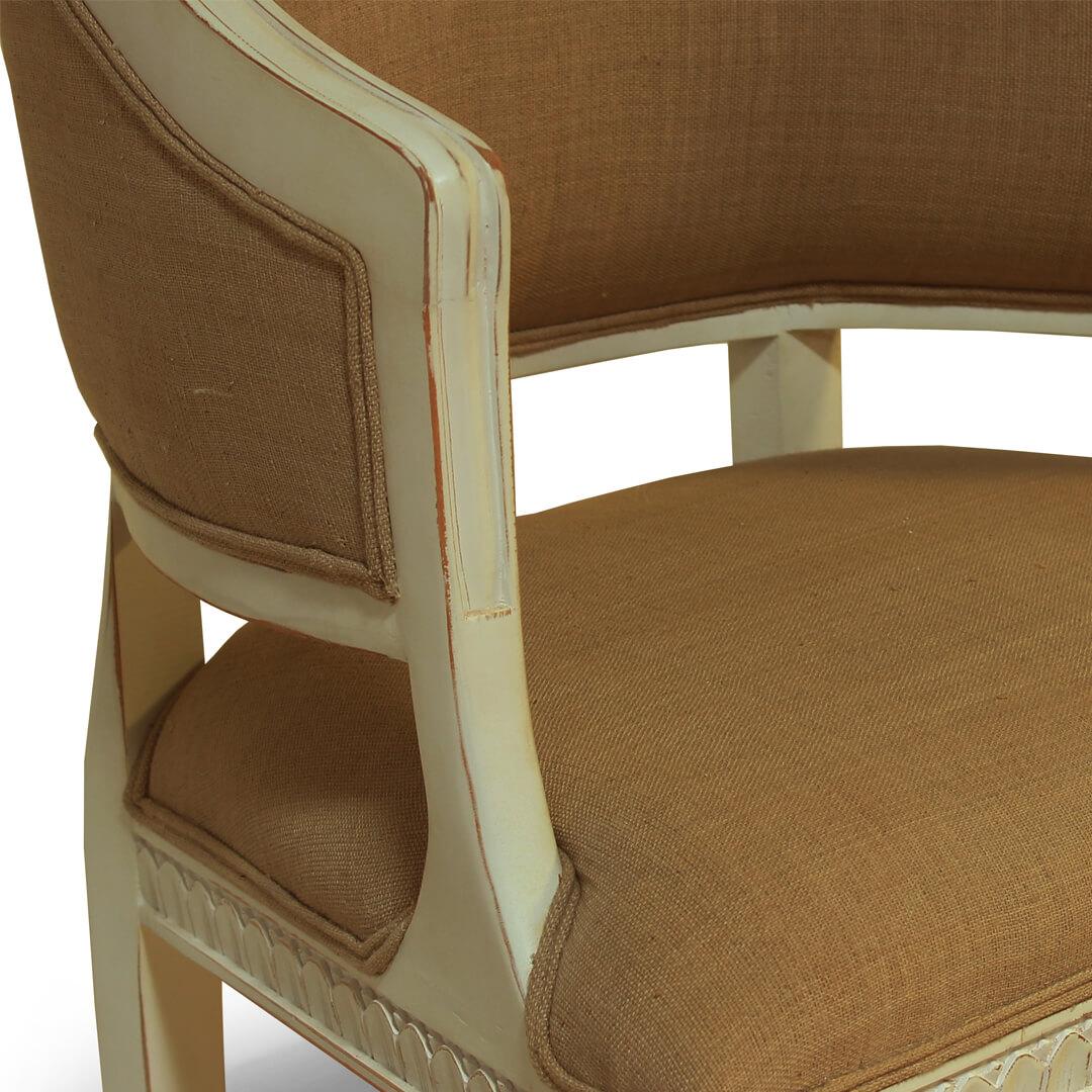 gustavian furniture side chair detail