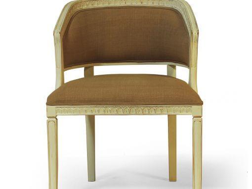 Upholstered Barrel Back Chair