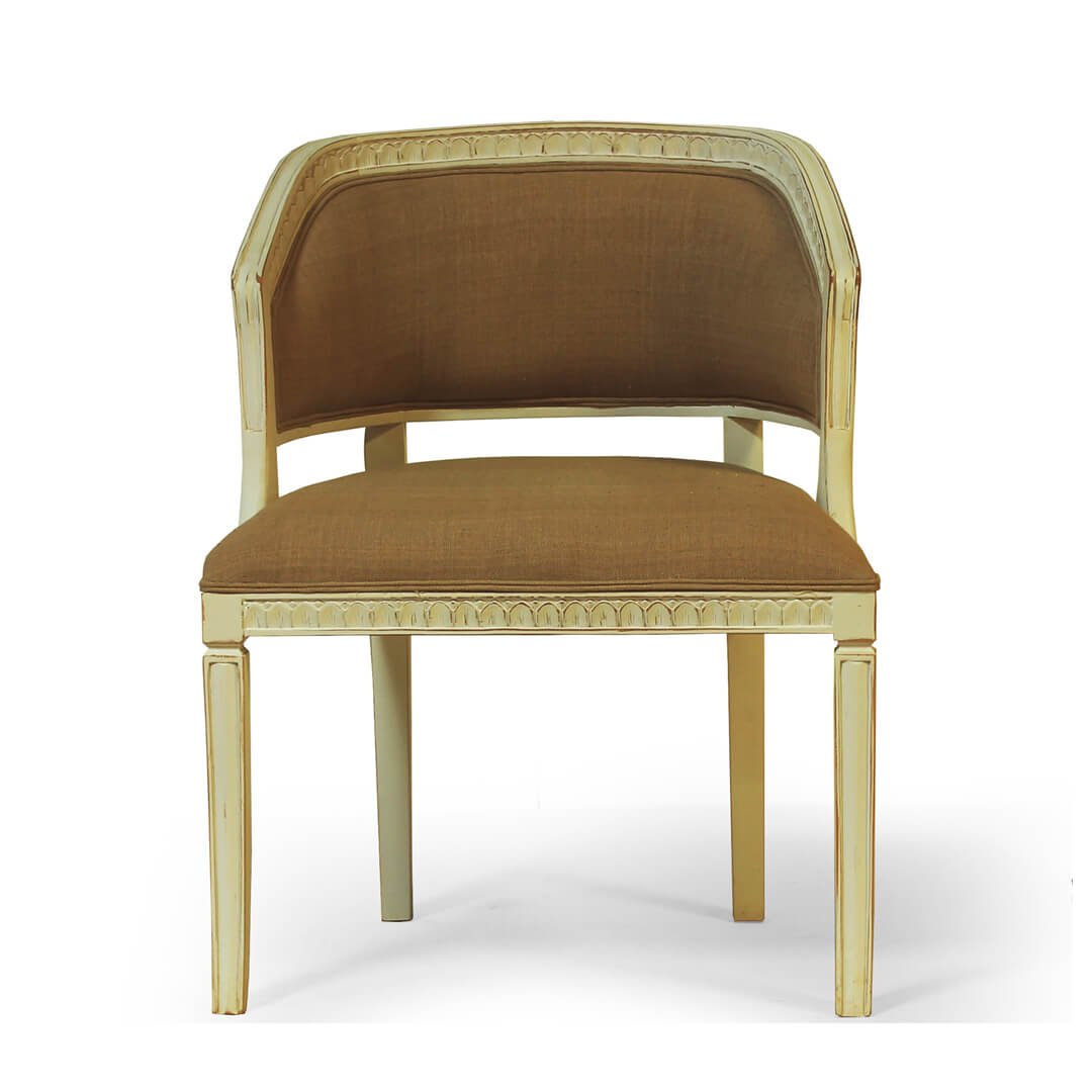 gustavian furniture side chair front view