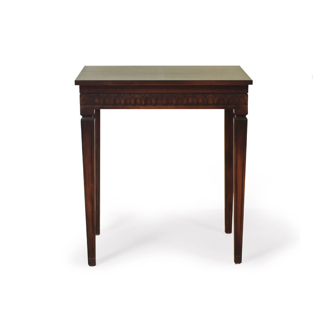 gustavian furniture side table front view