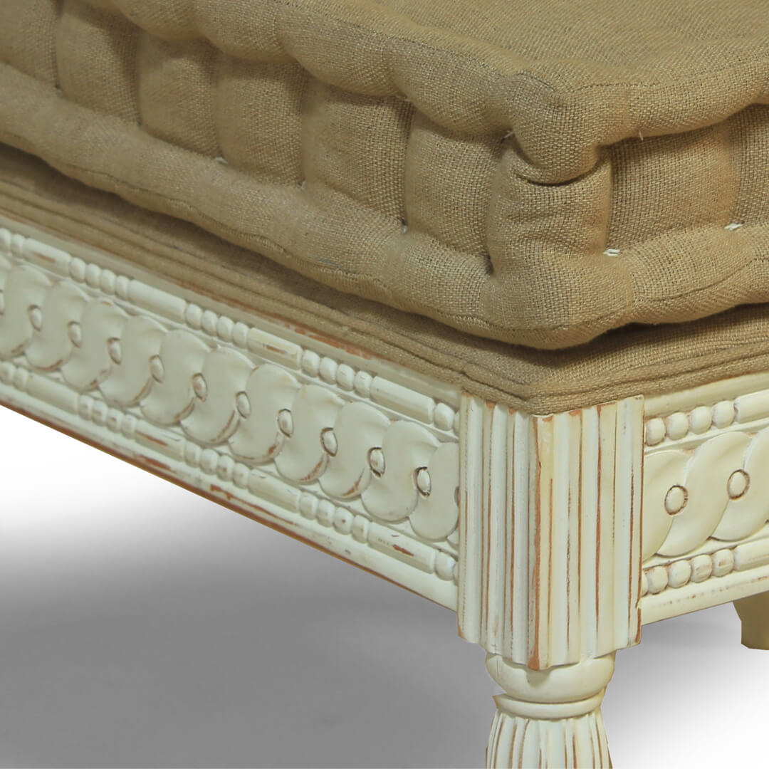 gustavian furniture small bench detail