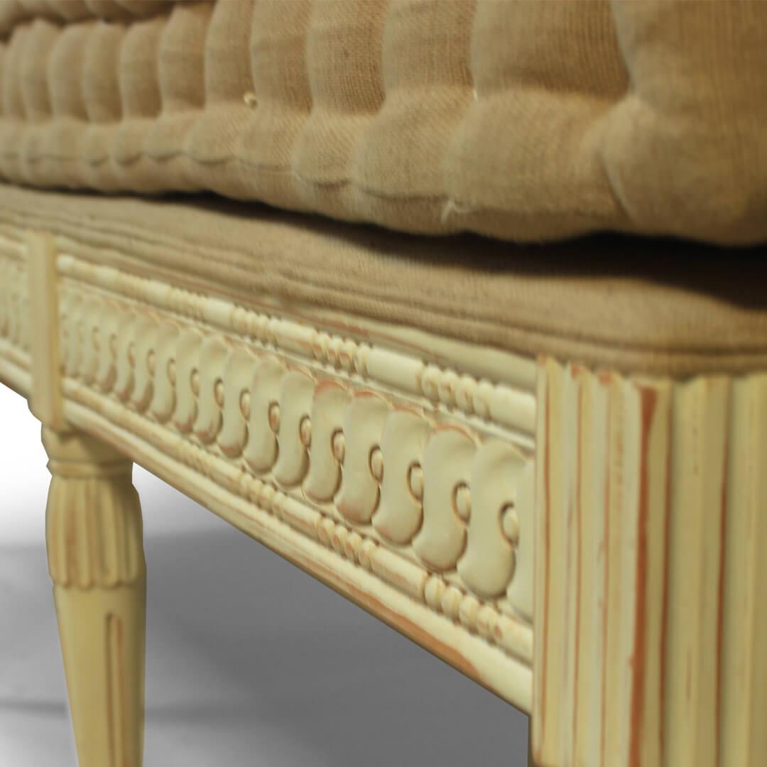 gustavian furniture style bench detail