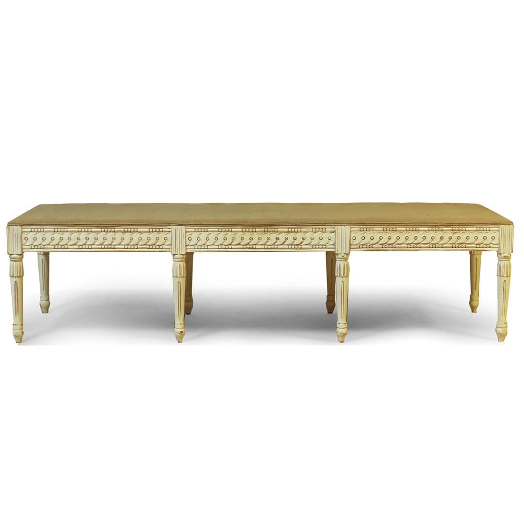 gustavian furniture style bench no cushion